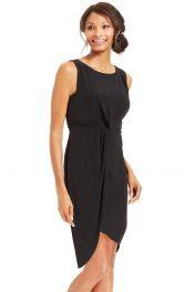 Levné černé pohodlné šaty