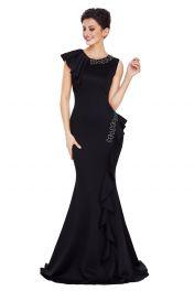 Černé společenské šaty s vlečkou