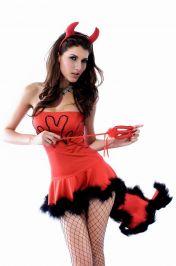 Dámský kostým ďábel