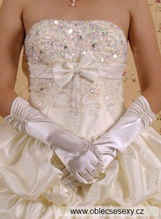 Bílé rukavice