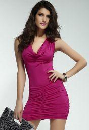 Šaty tmavě růžové