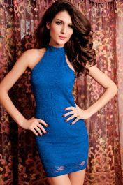 Modré krátké šaty