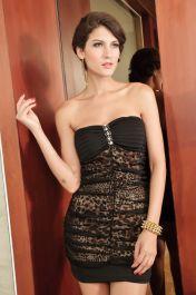 Černé sexy koktejlové šaty