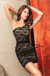 Elegantní šaty s jedním ramínkem