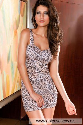 Šaty s gepardím vzorem