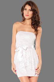 Sexy Club wear bílé minišaty