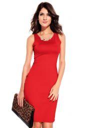Levné červené šaty