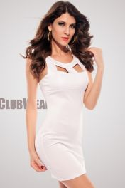 Bílé společenské šaty