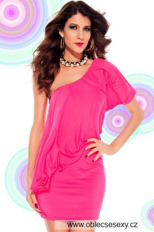 Růžové šaty Lisa