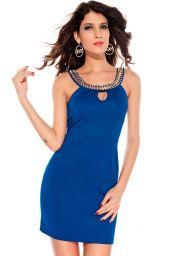 Modré koktejlové šaty Elisa