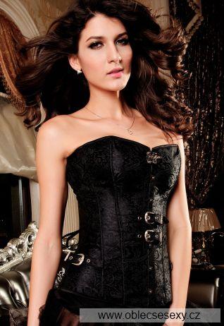 Luxusní černý korzet