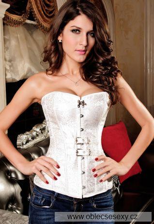 Luxusní bílý korzet