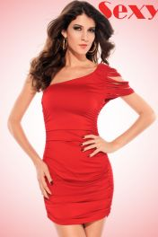 Mini šaty červené clubwear