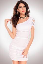 Mini šaty bílé clubwear