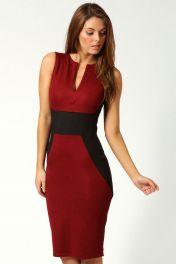 Červené midi šaty Jezebel