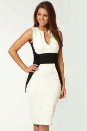 Bílé midi šaty Jezebel
