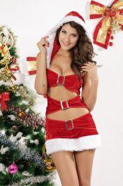Svůdný sexy Vánoční kostým Aida