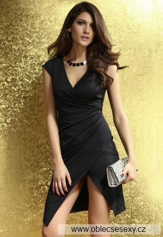 Černé midi šaty Lucy