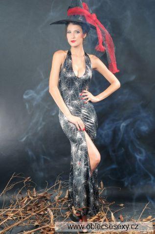 Dlouhý dámský čarodějnický kostým