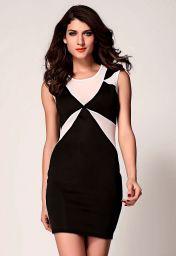 Černobílé přiléhavé šaty Sarah