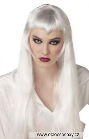 Bílá dámská paruka