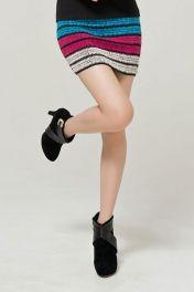 Levná barevná mini sukně