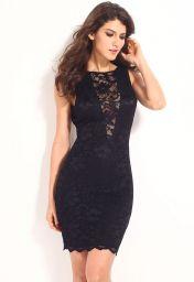 Levné černé midi šaty Adéla